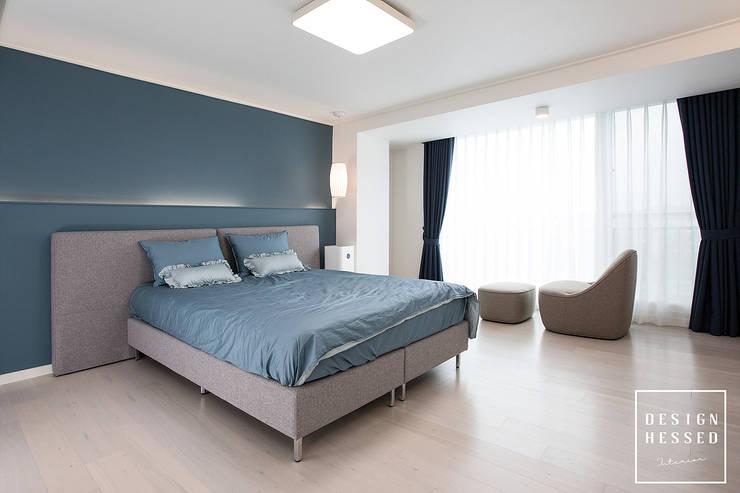 대전 어은동 한빛아파트 51평-침실, 아이방, 욕실: 디자인 헤세드의  침실,