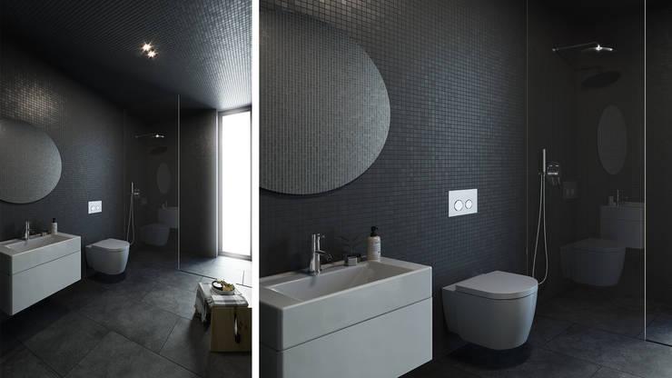 浴室 by FMO ARCHITECTURE, 簡約風 陶器
