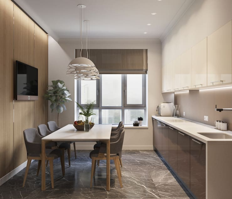 ЖК «River House»: Кухни в . Автор – Wide Design Group