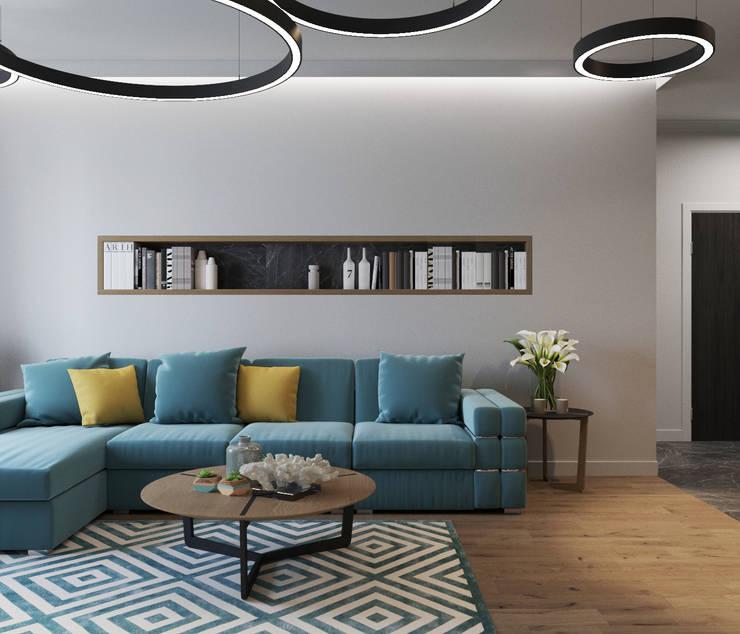 ЖК «River House»: Гостиная в . Автор – Wide Design Group