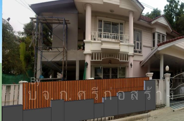 Casas unifamiliares de estilo  por ก.ศรีก่อสร้าง, Asiático