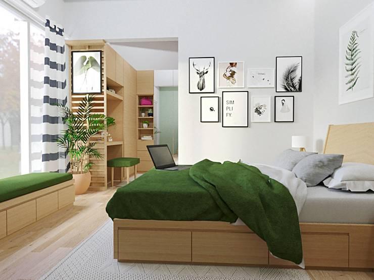 Interior bedroom: Kamar Tidur oleh viku,
