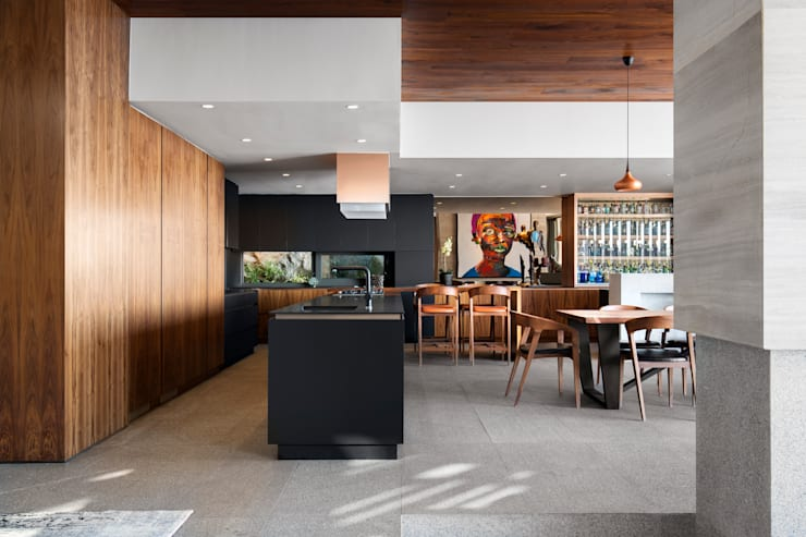 HOUSE SEALION | FRESNAYE:  Built-in kitchens by Wright Architects