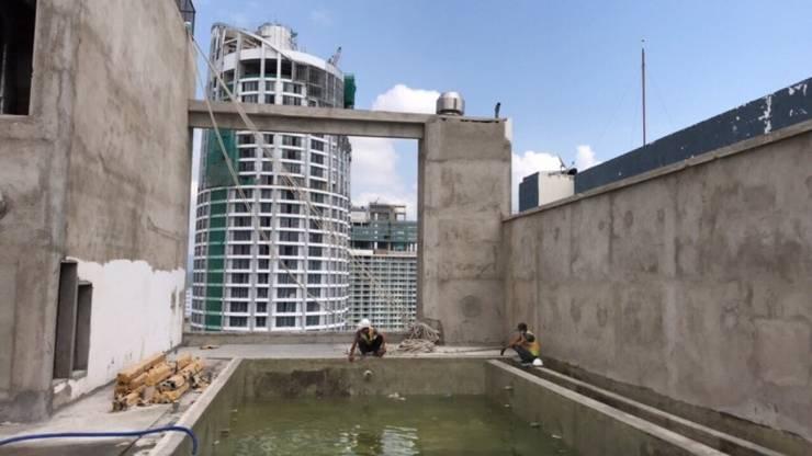Công ty xây dựng bể bơi seapoolvn dự toán thi công:  Garden Pool by seapoolvn, Modern Glass
