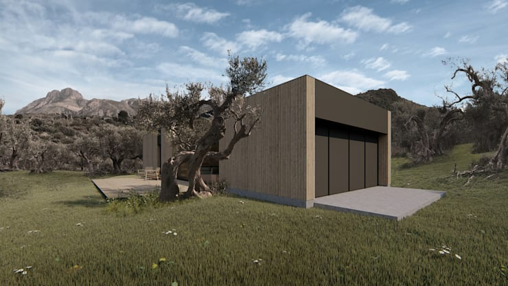 Wooden houses by ALESSIO LO BELLO ARCHITETTO a Palermo, Modern Wood Wood effect