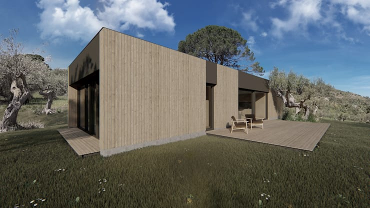 Country house by ALESSIO LO BELLO ARCHITETTO a Palermo, Country Wood Wood effect