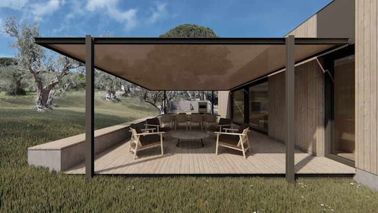 Country house by ALESSIO LO BELLO ARCHITETTO a Palermo, Country Iron/Steel
