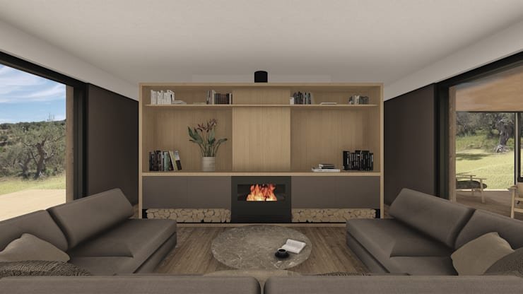 Living room by ALESSIO LO BELLO ARCHITETTO a Palermo, Scandinavian Wood Wood effect
