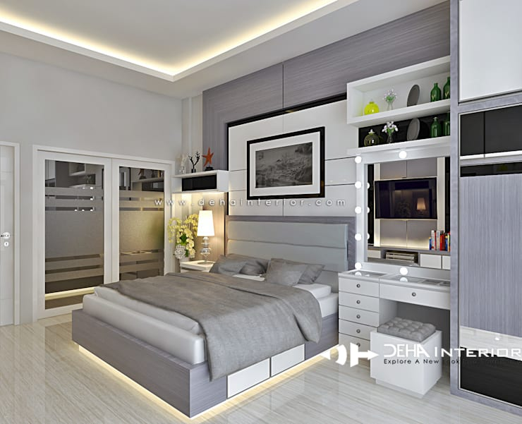 Project Thomin Shu: Kamar Tidur oleh deha interior pekanbaru, Modern Kayu Lapis