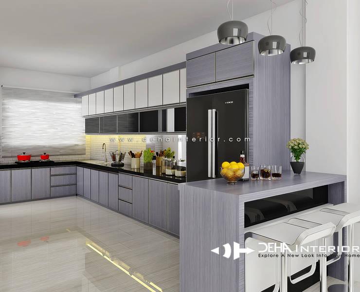 廚房 by deha interior pekanbaru, 現代風
