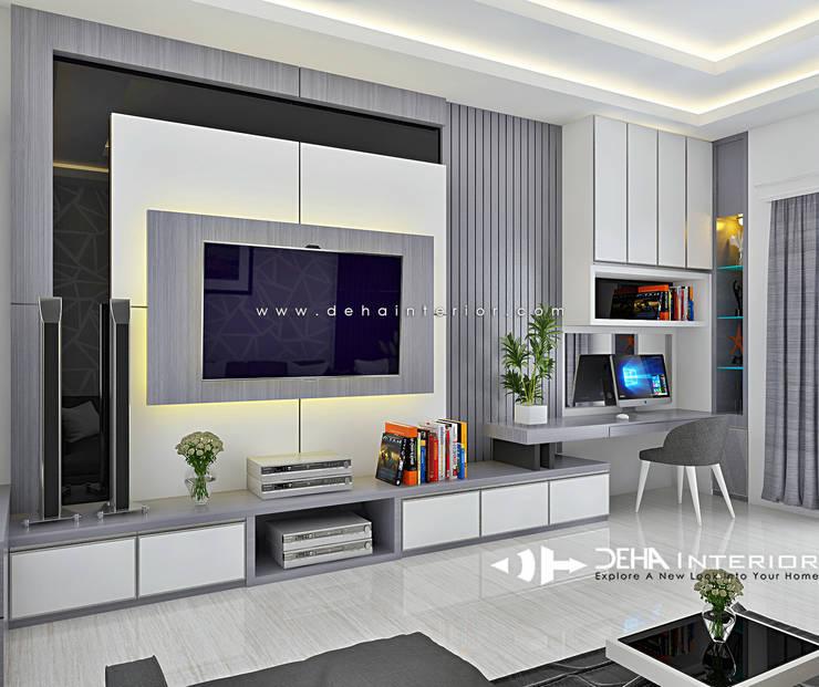 客廳 by deha interior pekanbaru, 現代風