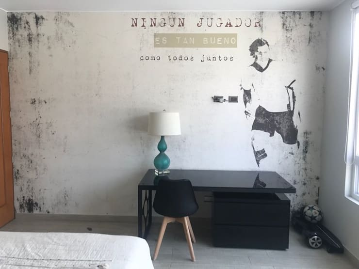 Dormitorio de Hombre:  de estilo  por Alicia Ibáñez Interior Design