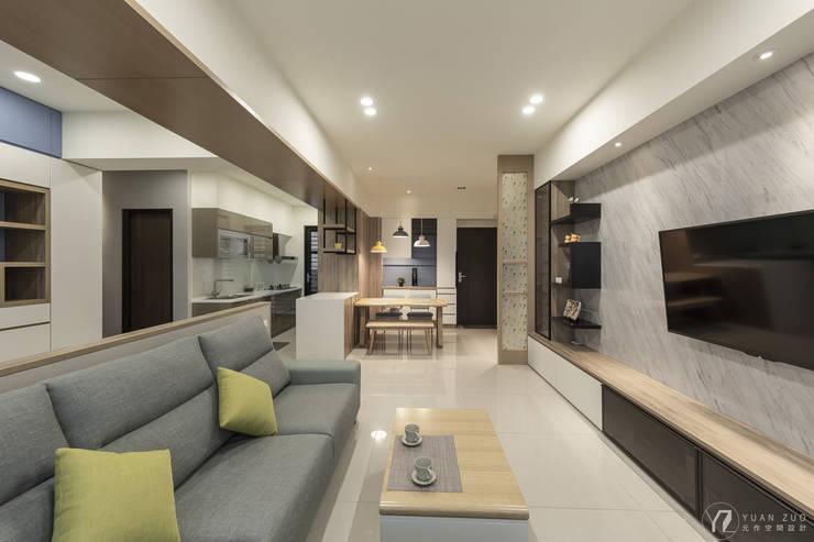 整體範圍:  廚房 by 元作空間設計,