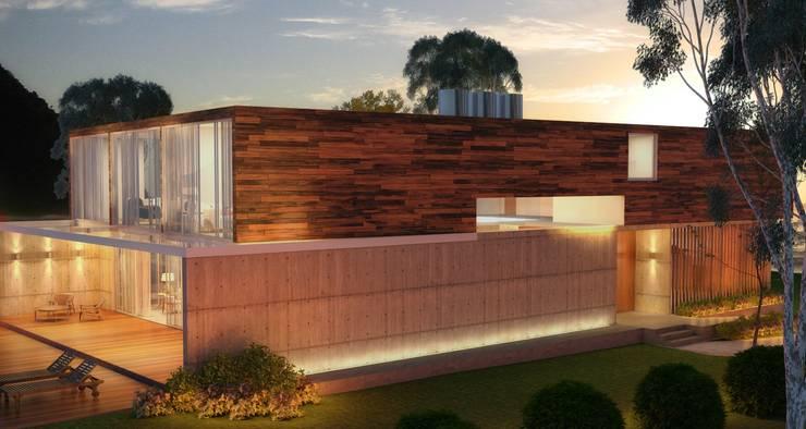 Casa da Árvore: Casas de campo  por Viviane Cunha Arquitetura