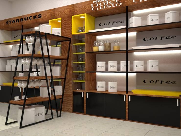 coffee shop:  مكاتب العمل والمحال التجارية تنفيذ ET.CAD
