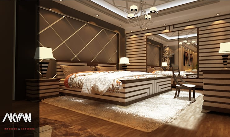 LUXURY MASTER BEDROOM ( BED ZOON :  تصميم مساحات داخلية تنفيذ AKYAN