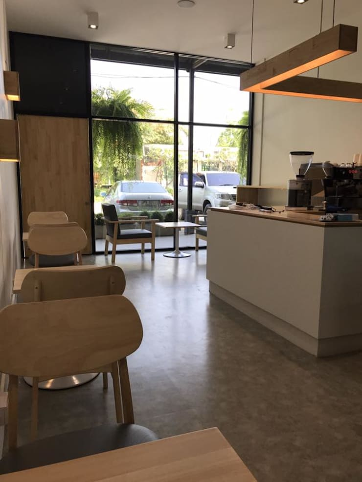 Boo Coffee:  Commercial Spaces by BloomBrown , Mediterranean