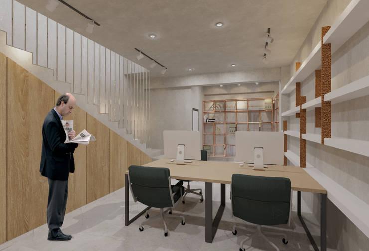 Staff Area- 1st Floor: Ruang Kerja oleh TIES Design & Build, Industrial