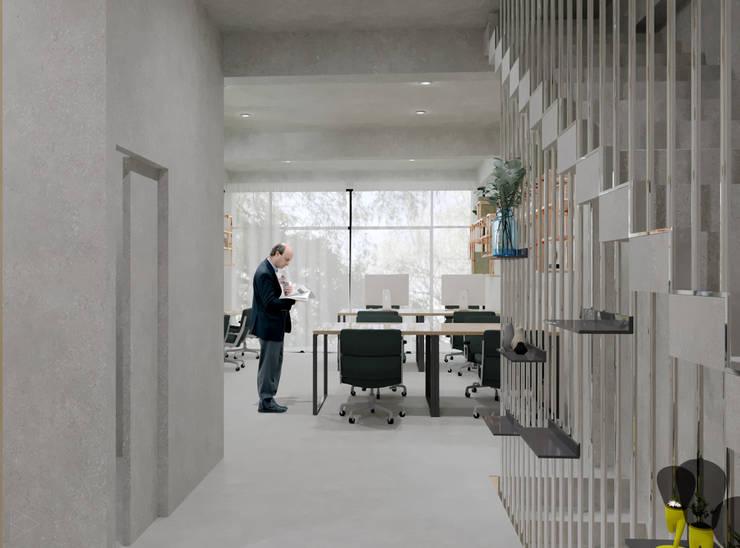 Staff Area- 2nd Floor: Ruang Kerja oleh TIES Design & Build, Industrial