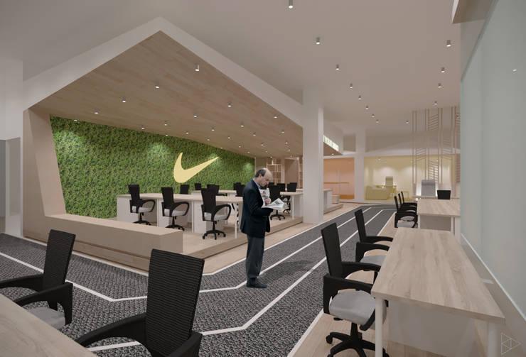 Mind Refreshing Area:  Ruang Kerja by TIES Design & Build