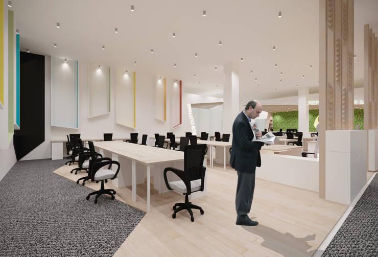Staff Area:  Ruang Kerja by TIES Design & Build