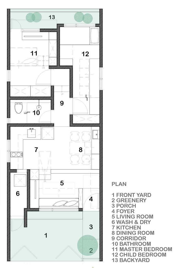 Floor Plan:  oleh TIES Design & Build,