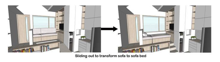 Sofa Bed Transformation:  oleh TIES Design & Build,