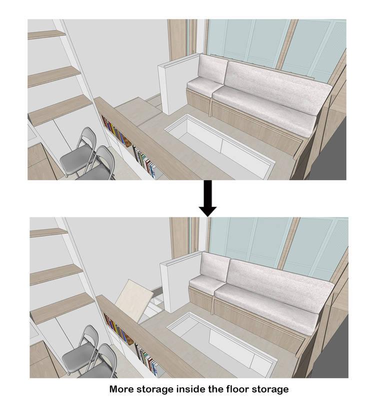 Floor Storage:  oleh TIES Design & Build,