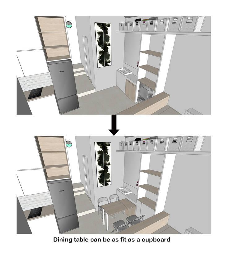 Dining Table Transformation:  oleh TIES Design & Build,