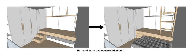 Sliding Bed Transformation:  oleh TIES Design & Build,