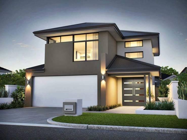 Dreams Do Come True:  Single family home by House Plans SA, Modern Concrete