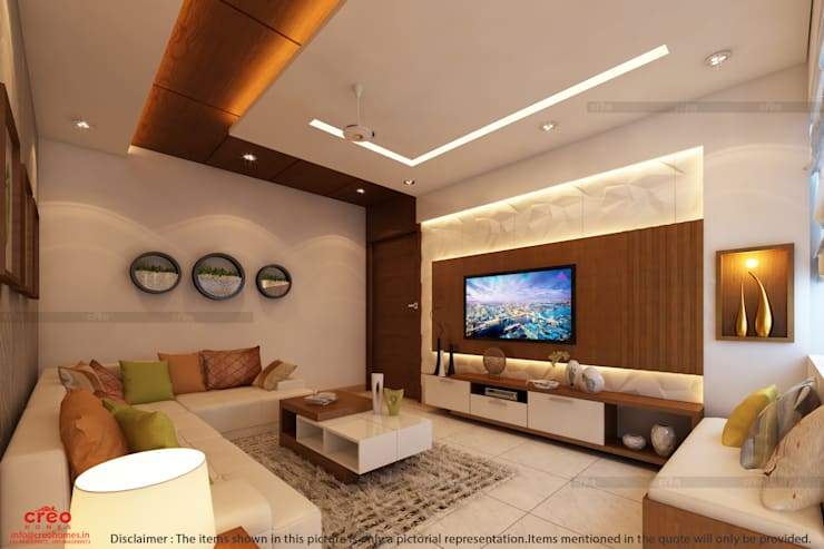 Living room by CreoHomes Pvt Ltd, Asian