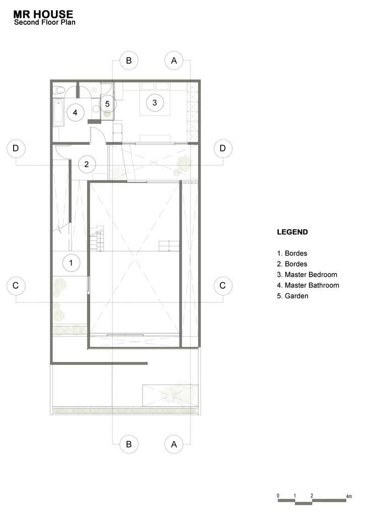 2nd Floor Plan:  oleh TIES Design & Build,