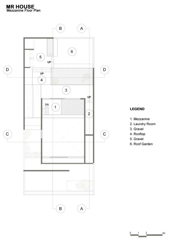 Mezzanine Floor Plan:  oleh TIES Design & Build,