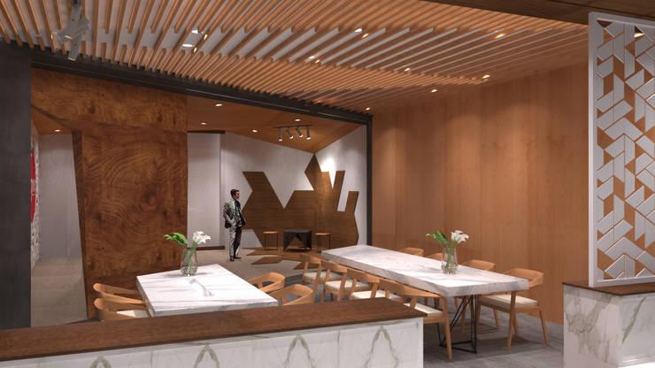 Meeting Table: Ruang Komersial oleh TIES Design & Build,