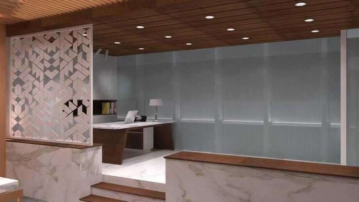 Director's Table: Ruang Komersial oleh TIES Design & Build,