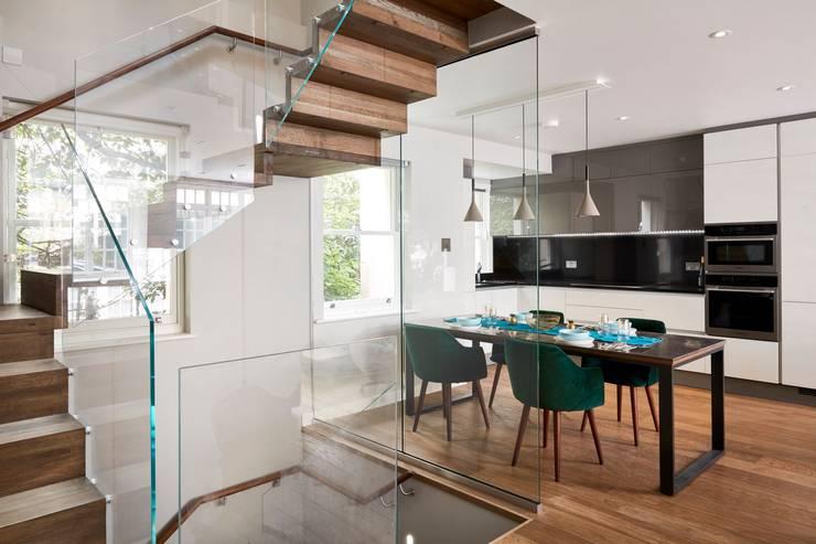 Luxury Belgravia renovation :  Dining room by Urbanist Architecture,