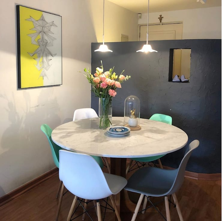 Comedor  Casa RDR: Comedor de estilo  por Moon Design