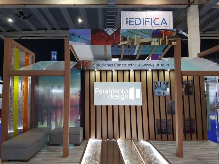 Paramento Design en Expo Edifica 2017: Oficinas y tiendas de estilo  por B+2