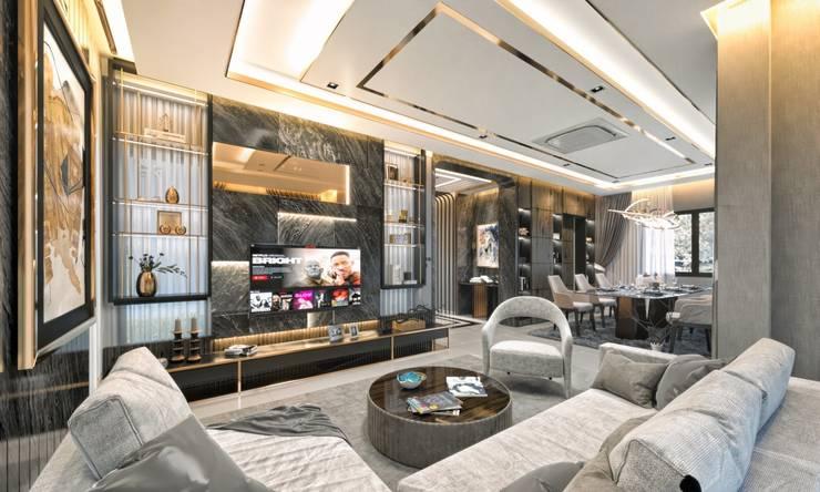 ออกแบบตกแต่งภายในบ้านตัวอย่าง :  ตกแต่งภายใน by Glam studio