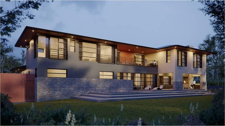 Maison individuelle de style  par Venuï Architects, Moderne Ardoise