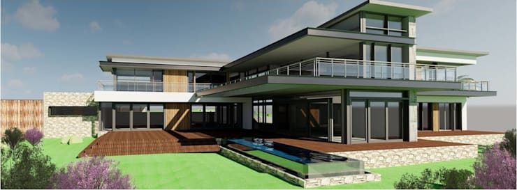 Ultra Modern Bushveld Home :  Single family home by Venuï Architects,