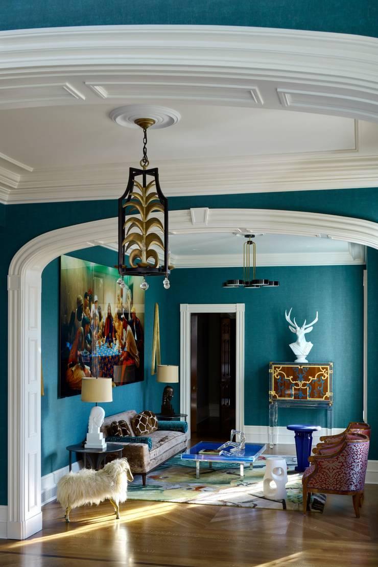 Living room by DelightFULL, Industrial Copper/Bronze/Brass