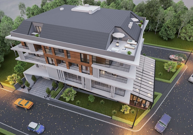 Hipped roof by ANTE MİMARLIK , Modern