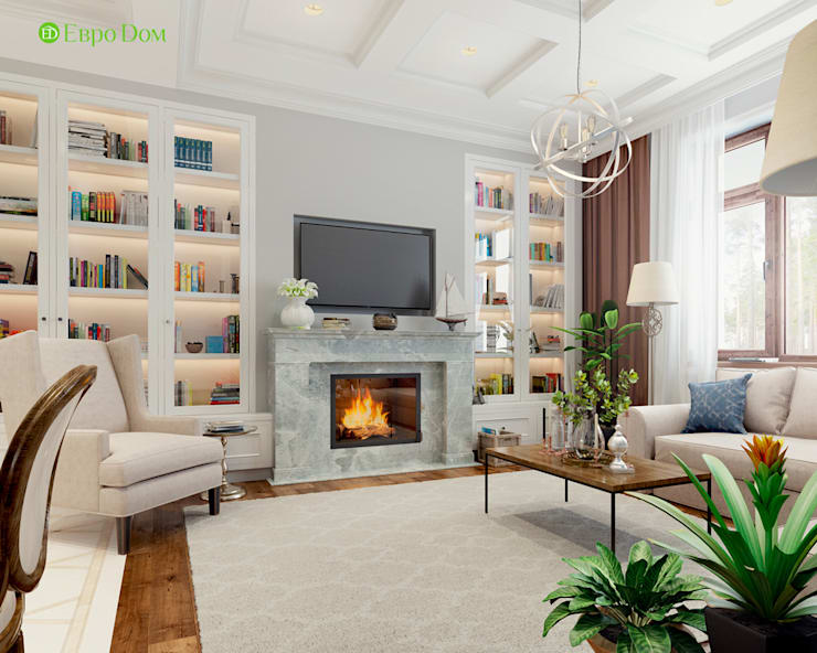 Living room by ЕвроДом, Classic