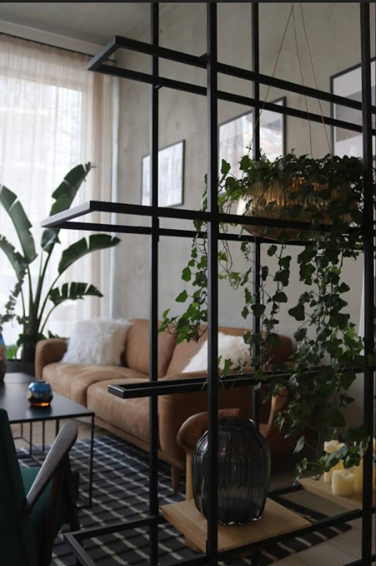black steel designer shelf room divider piece Moderne Geschäftsräume & Stores von Ivy's Design - Interior Designer aus Berlin Modern Metall