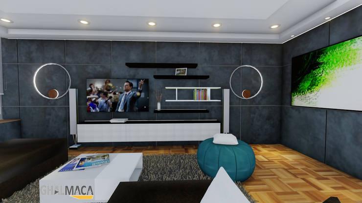 Living room by Vida Arquitectura, Modern Ceramic