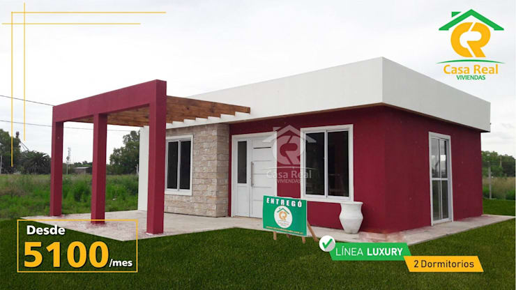 CASAS PREFABRICADAS LINEA LUXURY: Casas prefabricadas de estilo  por Casa Real Viviendas,