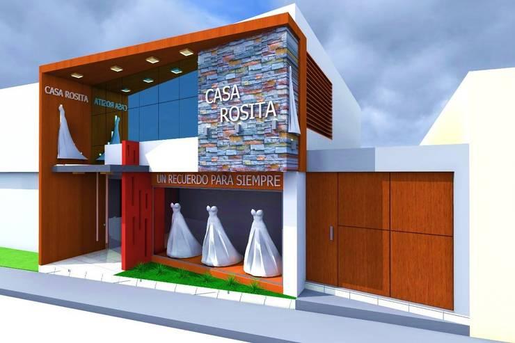 Casa Rosita de Crearq-Arquitecto C.ROSAS Minimalista Vidrio