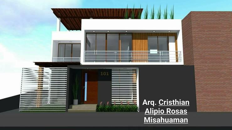 CASA TERRAZA: Casas de campo de estilo  por Crearq-Arquitecto C.ROSAS